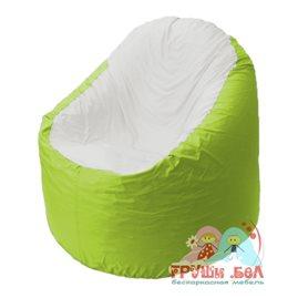 Живое кресло-мешок Bravo салатовое, сидушка белая