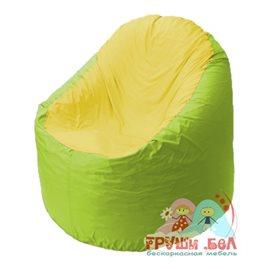 Живое кресло-мешок Bravo салатовое, сидушка желтая