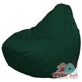 Живое кресло-мешок Груша Макси темно-зеленое