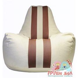 Живое кресло-мешок Спортинг экокожа с полосками (75 х 100 см)