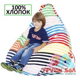 Живое кресло-мешок Груша Весёлые полоски