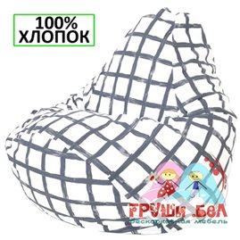 Живое кресло-мешок Груша Клетка