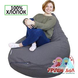 Живое кресло-мешок Груша мега серая