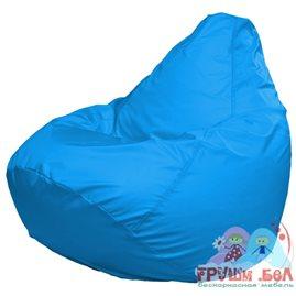 Живое кресло-мешок Груша Макси голубое