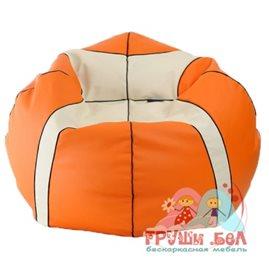 """Живое кресло-мешок """"Баскетбольный Мяч Медиум"""" оранжевый"""
