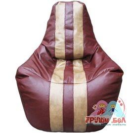 Живое кресло-мешок Спортинг бордовый