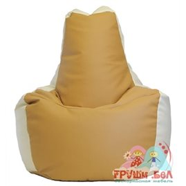 Живое кресло-мешок Спортинг экокожа песочно-белый