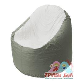 Живое кресло-мешок Bravo серое, сидушка белая
