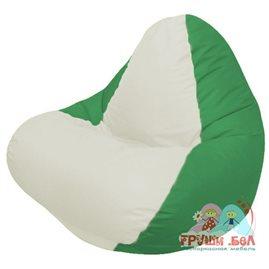 Живое кресло-мешок RELAX зелёное, сидушка белая