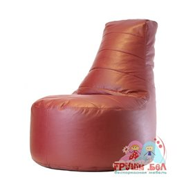 Живое кресло Чил Аут экокожа (85 х 105 см) бордо