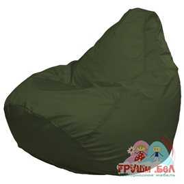 Живое кресло-мешок Груша Макси темно-оливковое