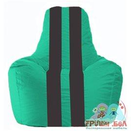 Живое кресло-мешок Спортинг бирюзовый - чёрный С1.1-283