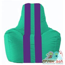 Живое кресло-мешок Спортинг бирюзовый - фиолетовый С1.1-285