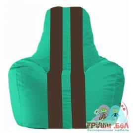 Живое кресло-мешок Спортинг бирюзовый - коричневый С1.1-298