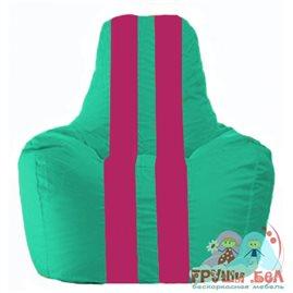 Живое кресло-мешок Спортинг бирюзовый - лиловый С1.1-284