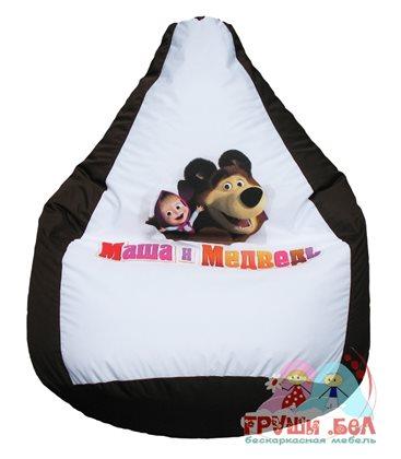 Бескаркасное кресло-мешок Маша и медведь