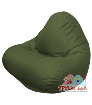 Живое кресло-мешок RELAX темно оливковое