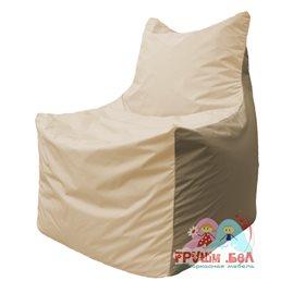 Живое кресло-мешок Фокс Ф 21-136 (слоновая кость - тёмно-бежевый)