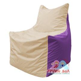 Живое кресло-мешок Фокс Ф 21-138 (слоновая кость - сиреневый)