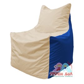 Живое кресло-мешок Фокс Ф 21-139 (слоновая кость - синий)