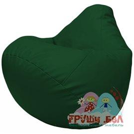 Живое кресло-мешок Груша Г2.3-01 зелёный