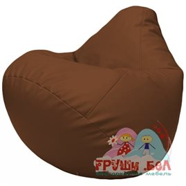 Живое кресло-мешок Груша Г2.3-07 коричневый