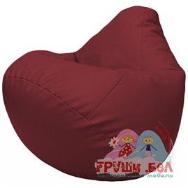 Живое кресло-мешок Груша Г2.3-21 бордовый