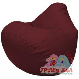 Живое кресло-мешок Груша Г2.3-32 бордовый