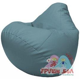 Живое кресло-мешок Груша Г2.3-36 голубой