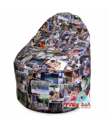Живое кресло мешок Груша Фотоколлаж