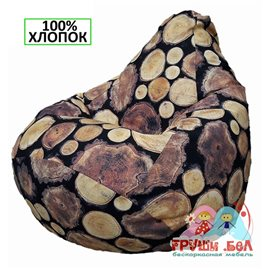 Живое кресло-мешок Груша Пеньки