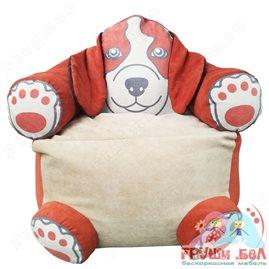 Живое кресло мешок Пёс Оранж
