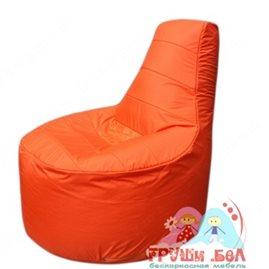 Бескаркасное кресло мешокТрон Т1.1-05(оранжевый)