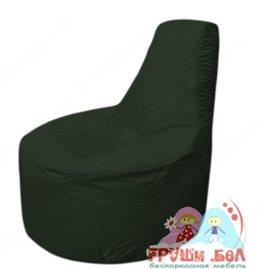 Бескаркасное кресло мешокТрон Т1.1-09(тем.зеленый)