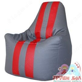 Живое кресло-мешок Спортинг (серый с красным) Чемпион