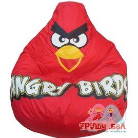 Живое кресло-мешок Красная Птичка оксфорд