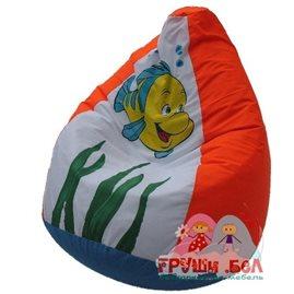 Живое кресло-мешок Рыбка Флаундер