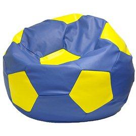 Живое кресло-мешок Мяч Мега сине-желтый
