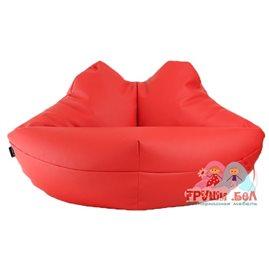 Живое кресло-мешок Губы экокожа (110 х 60 см)