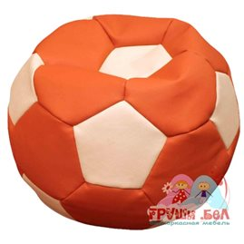 Живое кресло-мешок Мяч стандарт оранжево-белый
