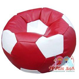 Живое кресло-мешок Мяч Стандарт бордово-белый