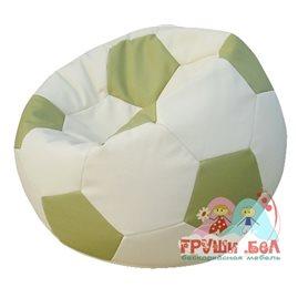 Живое кресло-мешок Мяч Стандарт бело-оливковое