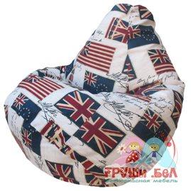 Живое кресло-мешок Груша Флаг