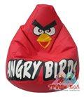 Живое кресло-мешок Красная Птичка экокожа