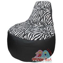 Живое кресло-мешок Трон Зебра