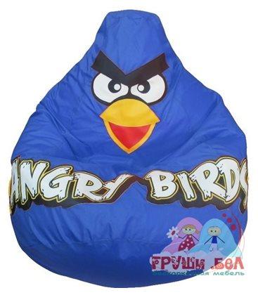 Живое кресло-мешок Птичка синяя