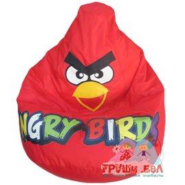 Живое кресло-мешок Красная Птичка(цветные буквы)